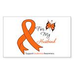 Leukemia Ribbon Husband Rectangle Sticker 10 pk)