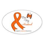 Leukemia Ribbon Husband Oval Sticker (50 pk)