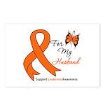 Leukemia Ribbon Husband Postcards (Package of 8)