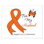 Leukemia Ribbon Husband Small Poster