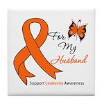 Leukemia Ribbon Husband Tile Coaster