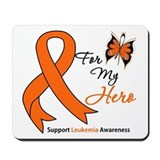 Leukemia Ribbon Hero Mousepad