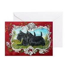 Vintage Scottish Terrier Greeting Cards (Pk of 10)