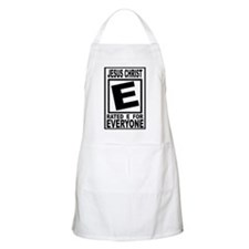 Jesus Christ Rated E for Ever BBQ Apron