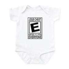 Jesus Christ Rated E for Ever Infant Bodysuit