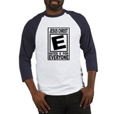 Jesus Christ Rated E for Ever Baseball Jersey