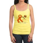 Leukemia Ribbon Grandma Jr. Spaghetti Tank