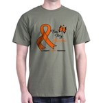 Leukemia Ribbon Grandma Dark T-Shirt