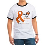 Leukemia Ribbon Grandma Ringer T