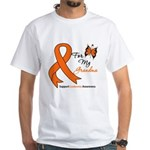 Leukemia Ribbon Grandma White T-Shirt