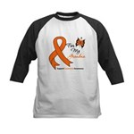 Leukemia Ribbon Grandma Kids Baseball Jersey