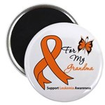 Leukemia Ribbon Grandma Magnet