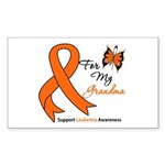 Leukemia Ribbon Grandma Rectangle Sticker 50 pk)