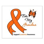 Leukemia Ribbon Grandma Small Poster