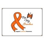 Leukemia Ribbon Grandma Banner