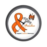 Leukemia Ribbon Grandma Wall Clock