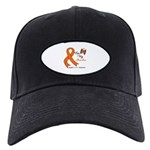 Leukemia Ribbon Grandma Black Cap