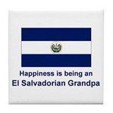 Happy El Salvadorian Grandpa Tile Coaster