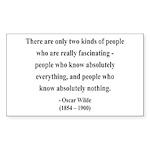 Oscar Wilde 22 Rectangle Sticker