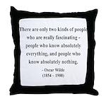 Oscar Wilde 22 Throw Pillow