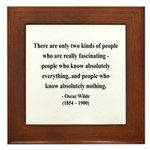 Oscar Wilde 22 Framed Tile