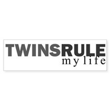 TWINS RULE my life Bumper Bumper Sticker