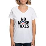 No More Taxes Women's V-Neck T-Shirt