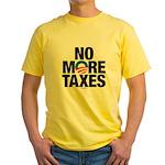 No More Taxes Yellow T-Shirt