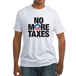 No More Taxes Fitted T-Shirt
