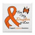 Leukemia Daughter-in-Law Tile Coaster