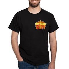 Hot Poker Girl Black T-Shirt