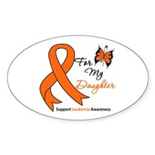 Leukemia Ribbon Daughter Oval Decal