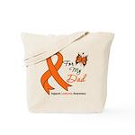 Leukemia Ribbon Dad Tote Bag