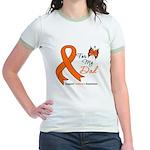 Leukemia Ribbon Dad Jr. Ringer T-Shirt