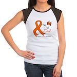 Leukemia Ribbon Dad Women's Cap Sleeve T-Shirt