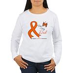 Leukemia Ribbon Dad Women's Long Sleeve T-Shirt