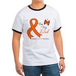 Leukemia Ribbon Dad Ringer T