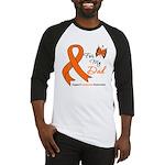 Leukemia Ribbon Dad Baseball Jersey