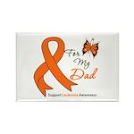 Leukemia Ribbon Dad Rectangle Magnet (10 pack)