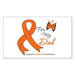 Leukemia Ribbon Dad Rectangle Sticker
