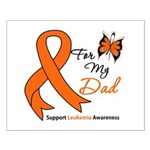 Leukemia Ribbon Dad Small Poster