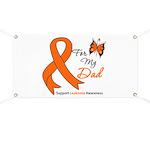 Leukemia Ribbon Dad Banner