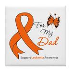 Leukemia Ribbon Dad Tile Coaster