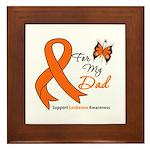 Leukemia Ribbon Dad Framed Tile