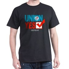union  yes Black T-Shirt