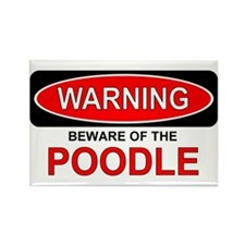 Beware Poodle Rectangle Magnet