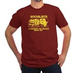 Socialists Obama Men's Fitted T-Shirt (dark)