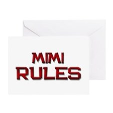 mimi rules Greeting Card