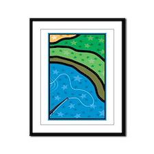 Cast A Line Framed Panel Print