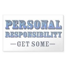 Personal Responsibility Rectangle Decal